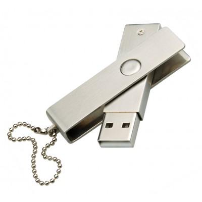 celokovový USB flash disk s otočným krytem