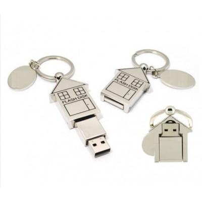 USB flash disk - kovový domek - VÝPRODEJ