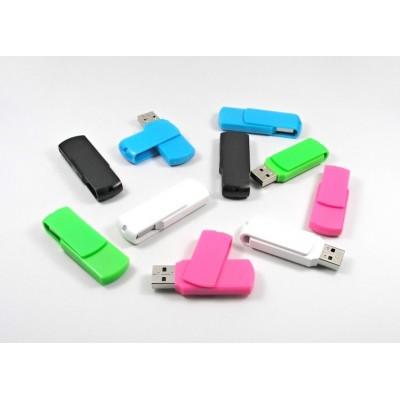Barevný plastový USB flash disk s otočným krytem