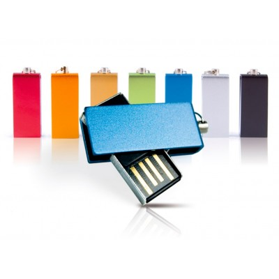 Miniaturní kovový USB flash disk s otočným krytem