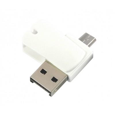 Miniaturní čtečka - USB flash disk microUSB