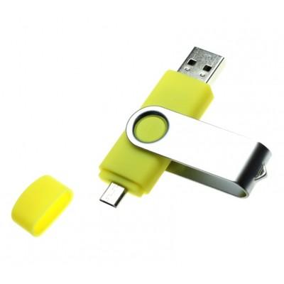 OTG USB flash disk s otočným krytem